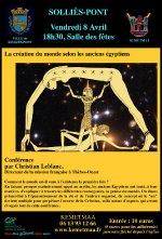 Affiche de la conférence réalisée par l'association Kemetmaâ.