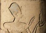 Ramsès II. Vignette d'une colonne de la salle hypostyle du Ramesseum.  © Christian Leblanc