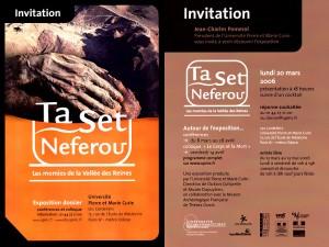 Exposition Ta Set Neferou. Les momies de la Vallée des Reines.